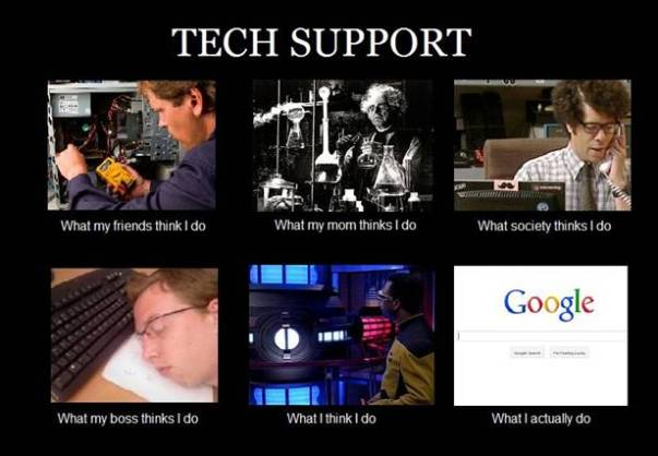 tech support what i think i do what society thinks i do what my mom thinks i do what i really do