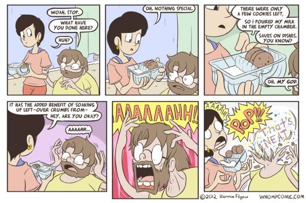 cookies milk head explode comic