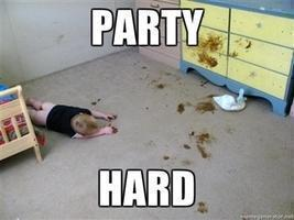 party hard baby poop