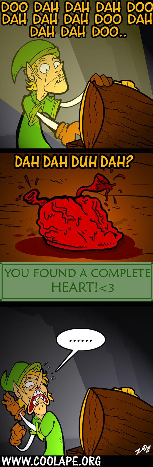 i heart zelda link found a complete heart