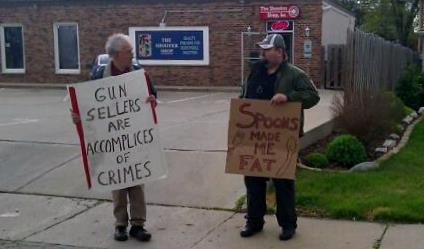 gun sellers and spoons